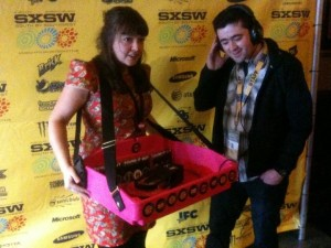 At the World Premiere of Jeanie Finlay's Sound It Out with Jim Colmar (SxSW programmer) and the mobile jukebox that won over fans 'one record at a time'.